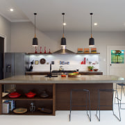 This new kitchen designed by Natalie DuBois features countertop, interior design, kitchen, room, gray
