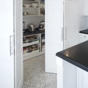 Hamptons-style kitchen by Wonderful Kitchens - Hamptons-style kitchen countertop, floor, home appliance, kitchen, major appliance, refrigerator, white