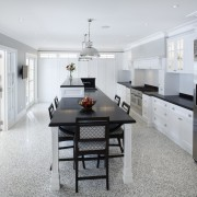 Hamptons-style transitional white kitchen - Hamptons-style transitional white countertop, cuisine classique, floor, interior design, kitchen, real estate, room, white