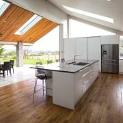 Contemporary new kitchen by Kitchen Link - Contemporary countertop, floor, flooring, hardwood, house, interior design, kitchen, laminate flooring, real estate, wood flooring, white