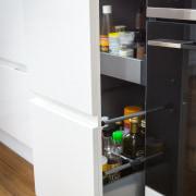 Contemporary new kitchen by Kitchen Link - Contemporary furniture, kitchen, shelf, shelving, white, black