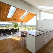 Contemporary new kitchen by Kitchen Link - Contemporary architecture, countertop, daylighting, floor, flooring, hardwood, house, interior design, kitchen, real estate, window, wood, wood flooring, white, brown
