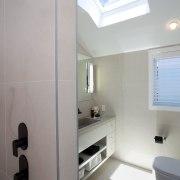 Contemporary master suite renovation by Celia Visser architecture, bathroom, daylighting, interior design, product design, room, gray