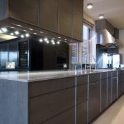 Sleek, contemporary German kitchen - Sleek, contemporary German cabinetry, countertop, interior design, kitchen, black