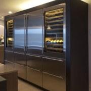 Sleek, contemporary German kitchen - Sleek, contemporary German cabinetry, home appliance, interior design, kitchen, kitchen appliance, major appliance, refrigerator, black, brown