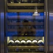 Sleek, contemporary German kitchen - Sleek, contemporary German major appliance, refrigerator, brown