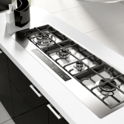Italian appliance collection by Fulgor Milano - Italian black and white, countertop, kitchen, kitchen appliance, kitchen stove, product design, sink, small appliance, table, tap, white, black