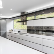 Contemporary kitchen with Smeg appliances - Contemporary kitchen countertop, interior design, kitchen, product design, white