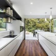 Contemporary kitchen with Smeg appliances - Contemporary kitchen architecture, countertop, home, house, interior design, kitchen, real estate, window, gray, white