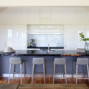 The kitchen in the new country show home countertop, cuisine classique, furniture, interior design, kitchen, real estate, room, table, gray
