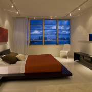 To maximize the light and space in this bedroom, ceiling, interior design, living room, room, brown