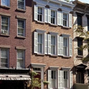 19th century Manhattan townhouse remodel - 19th century apartment, architecture, building, city, condominium, daytime, facade, home, house, landmark, mixed use, neighbourhood, property, real estate, residential area, window, black