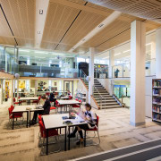 Teaching spaces made redundant by the new Joan institution, interior design, library, library science, public library, gray