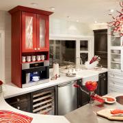 Dramatic kitchen by DeWitt Designer Kitchens - Dramatic countertop, interior design, kitchen, room, white