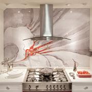 Dramatic cooking center by DeWitt Designer Kitchens ceiling, countertop, interior design, kitchen, wall, gray