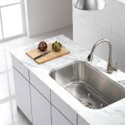 Kitchen sink by Kraus - Kitchen sink by bathroom sink, countertop, kitchen, plumbing fixture, product design, sink, tap, white