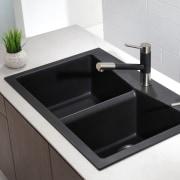 Kitchen sink by Kraus - Kitchen sink by bathroom sink, plumbing fixture, product design, sink, tap, white