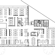 This boutique office development on a brownfields site architecture, area, artwork, black and white, design, diagram, drawing, elevation, estate, facade, floor plan, home, line, line art, plan, product design, property, residential area, schematic, technical drawing, text, white