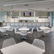 This boutique office development on a brownfields site interior design, gray