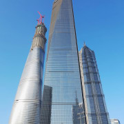 Shanghai Tower will deliver much needed supply to architecture, building, city, commercial building, condominium, corporate headquarters, daytime, headquarters, landmark, metropolis, metropolitan area, national historic landmark, sky, skyline, skyscraper, tower, tower block, urban area, teal, blue