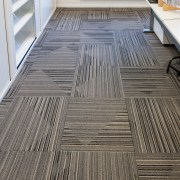 Durable, good-looking carpet tiles for commercial use floor, flooring, hardwood, laminate flooring, tile, wood, wood flooring, wood stain, gray