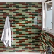 Small bathroom transformed with handmade tiles  - architecture, daylighting, floor, flooring, interior design, tile, wall, white