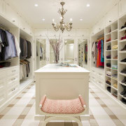 A place for everything and everything in its boutique, closet, furniture, interior design, room, gray