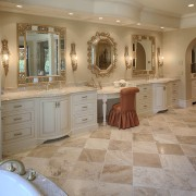 Traditional marble bathroom, tub, steam shower - Traditional bathroom, cabinetry, countertop, cuisine classique, estate, floor, flooring, home, interior design, kitchen, room, tile, wall, wood flooring, gray, brown