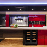A collection of fine wine shouldnt be relegated cabinetry, countertop, interior design, kitchen, black