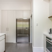 French door refrigerator - French door refrigerator - architecture, countertop, home appliance, interior design, kitchen, real estate, gray