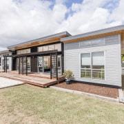 Lockwood Skagen show home - Lockwood Skagen show elevation, facade, home, house, property, real estate, white