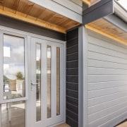 Lockwood Skagen show home - Lockwood Skagen show door, facade, home, real estate, siding, window, gray