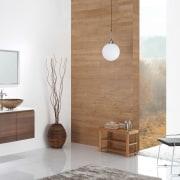 Glass vessel sinks, modern faucets - Glass vessel bathroom, bathroom accessory, bathroom cabinet, floor, flooring, furniture, interior design, product, product design, table, tap, wood, white