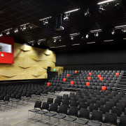 The multiuse performing arts studio at Hobsonville Point auditorium, performing arts center, theatre, black