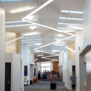 Complex lighting and skylights ensure the heart of architecture, ceiling, daylighting, institution, interior design, lobby, tourist attraction, gray