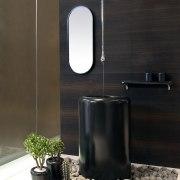 Italian manufacturer Gessi is renowned for innovative bathroom bathroom, ceramic, floor, flooring, interior design, product design, tap, tile, black