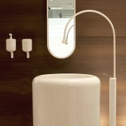 Italian manufacturer Gessi is renowned for innovative bathroom electronics, plumbing fixture, product, product design, tap, technology, toilet, toilet seat, brown, orange