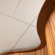 Above and beyond  the new Genesis Energy angle, ceiling, floor, flooring, line, plywood, product design, wood, gray