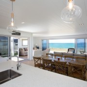 Kitchen and Dining area - Kitchen and Dining apartment, ceiling, interior design, living room, real estate, room, gray