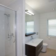 Beach home bathroom - Beach home bathroom - bathroom, home, interior design, plumbing fixture, real estate, room, sink, gray
