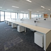 Furniture Lab provided furniture, desking and workstation solutions desk, floor, flooring, furniture, office, product design, table, gray