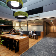 Rawlinsons provided quantity surveying service for the base interior design, lobby, black, gray