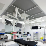 Forté Health required complex sustainable strategies by Powell ceiling, clinic, daylighting, hospital, interior design, product design, gray