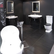 companies showcasing their products and skills at Home bathroom, floor, flooring, interior design, plumbing fixture, product, product design, sink, toilet, black