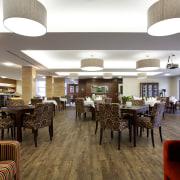 Yellowfox specified Expona Design luxury vinyl tiles from ceiling, interior design, lobby, restaurant, white