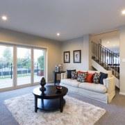plan living area by Landmark Homes - plan ceiling, estate, home, interior design, living room, property, real estate, room, window, gray