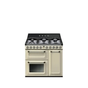 Freestanding cookers from Smeg highlight a significant design gas stove, home appliance, kitchen appliance, product, white