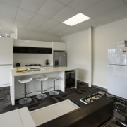 This contemporary kitchen 