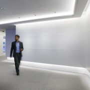 White walls and LED lighting are key features architecture, daylighting, interior design, product design, gray