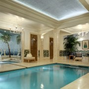 Art Deco interweaves with the Italianate in this ceiling, estate, home, interior design, lobby, property, real estate, swimming pool, window, brown, orange